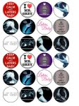 24 x Fifty 50 Shades of Grey edible wafer paper bun cup cake toppers